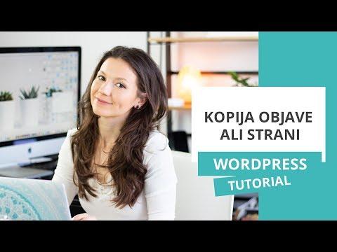 Kopija objave ali strani – WordPress nasvet