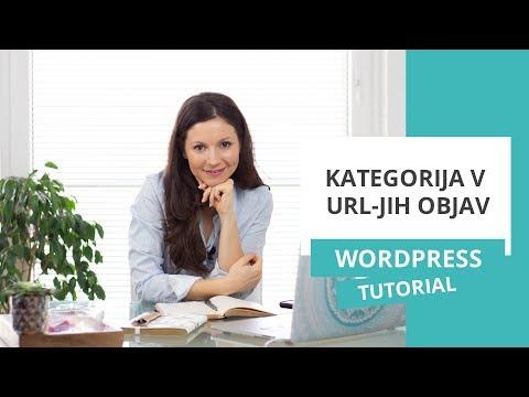 Kako dodati kategorijo v URL-je objav – WordPress nasvet