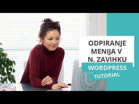 Odpiranje menija v novem zavihku – WordPress nasvet