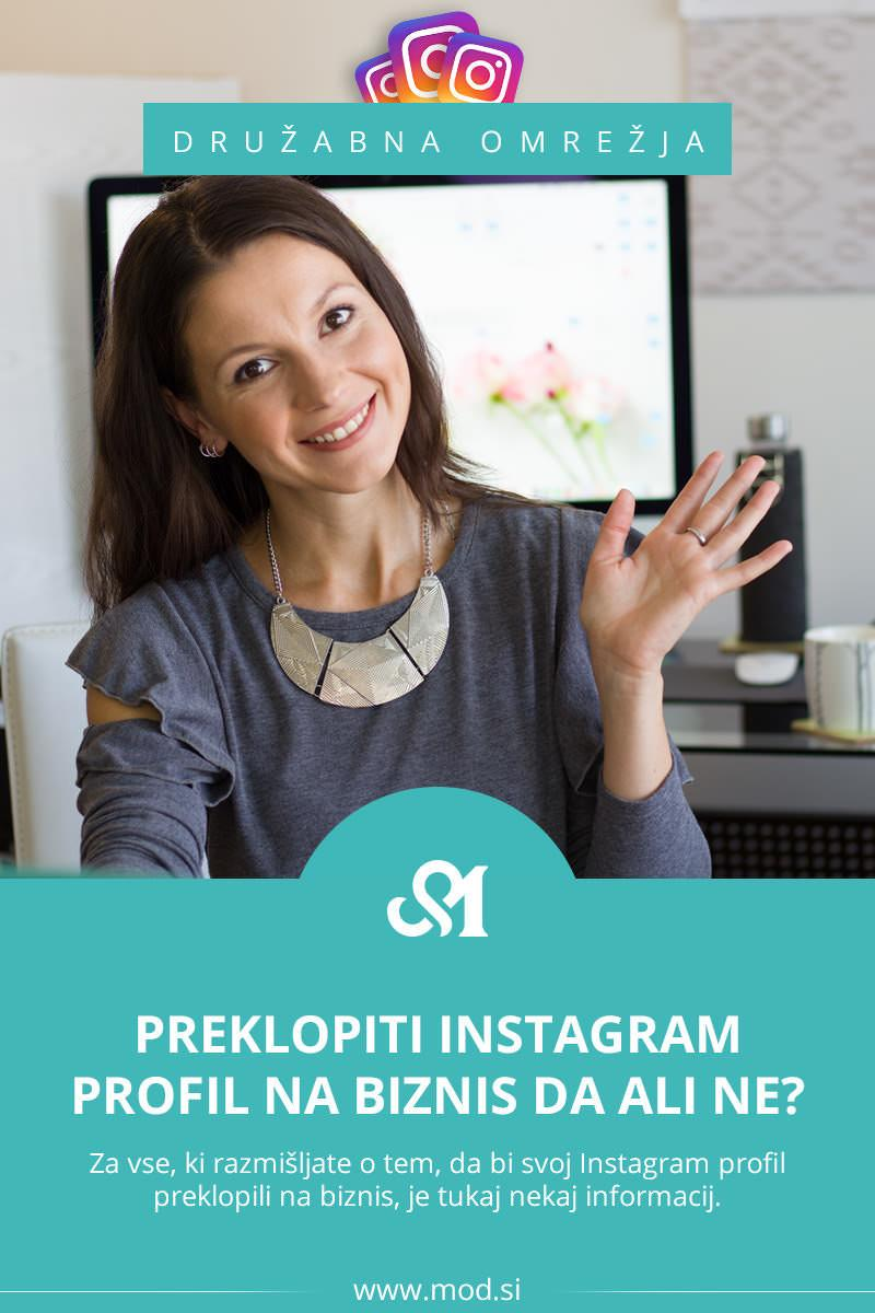 Preklopiti Instagram profil na biznis DA ali NE?