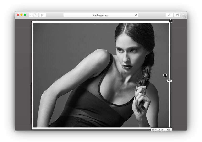 Nova spletna stran Model Group
