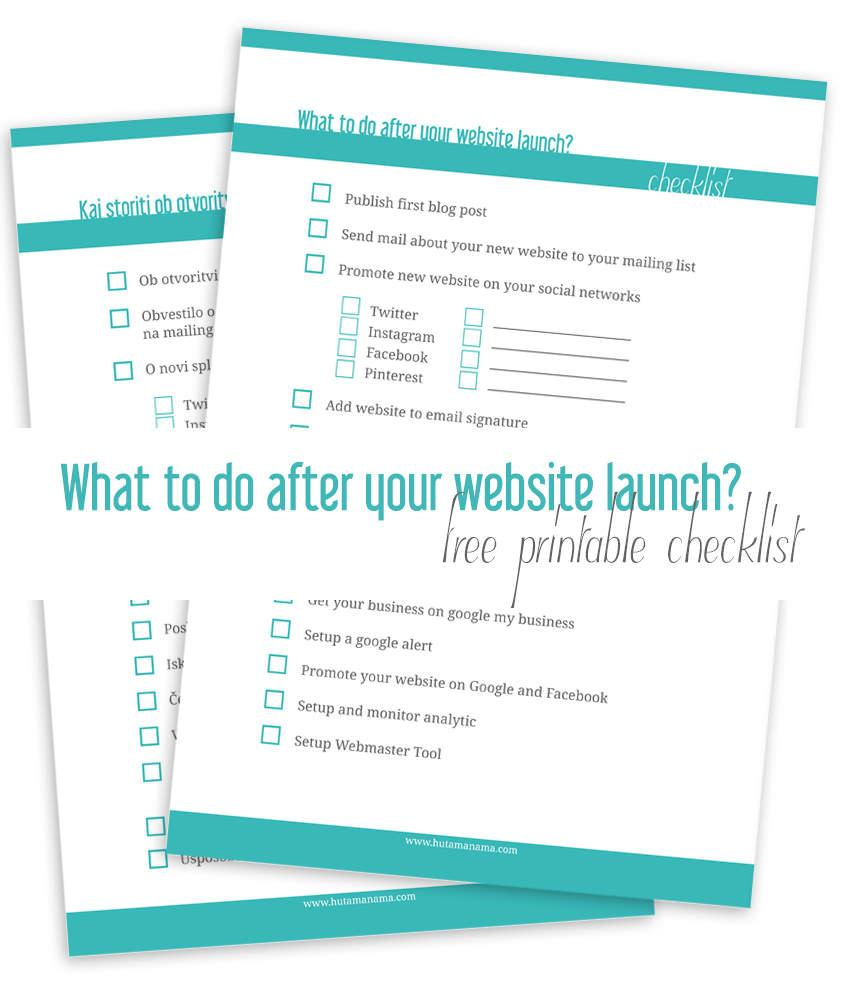 What to do after your website launch