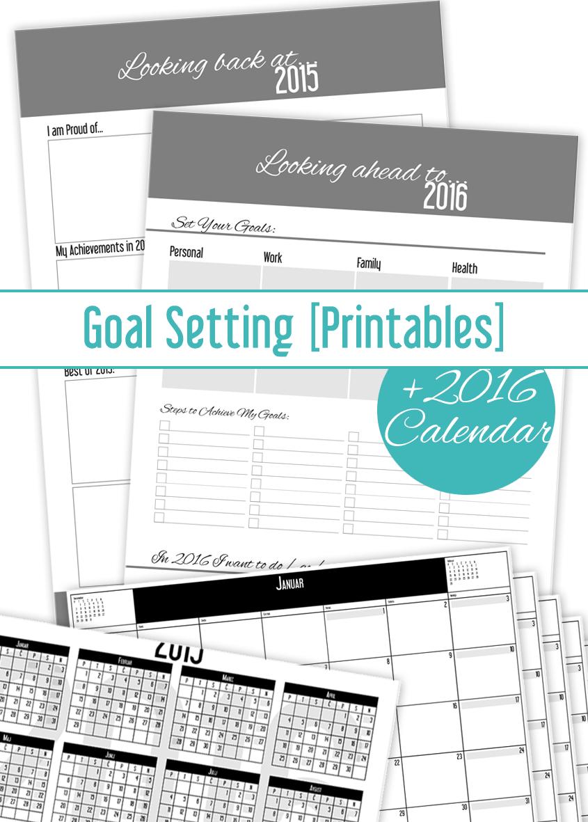 Calendar Year Goals : Set your new year s goals and get calendar freebie