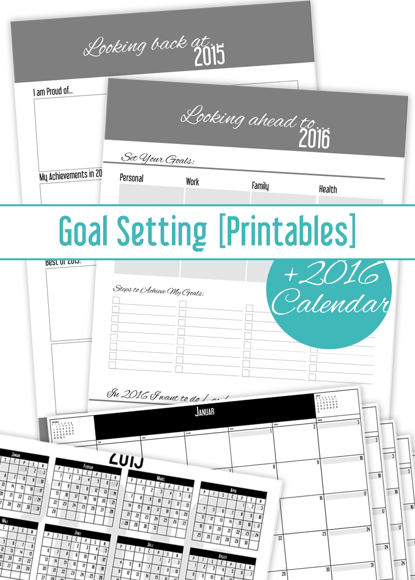 Calendar Year Goals Record : Set your new year s goals and get calendar freebie