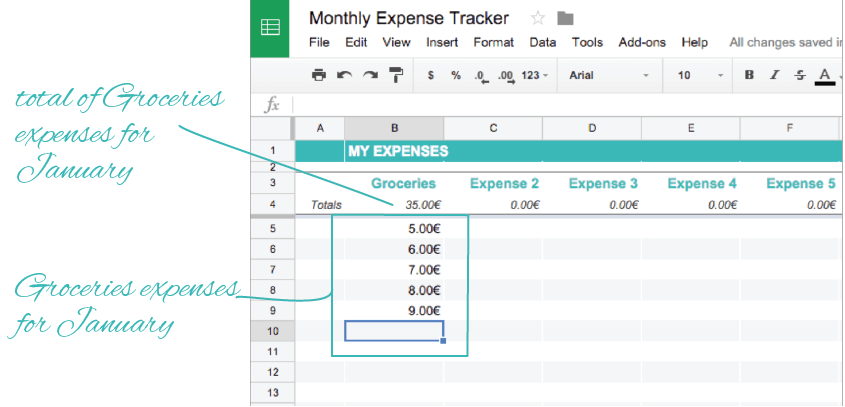 HOW TO TRACK YOUR EXPENSES WITH FREE GOOGLE SHEETS
