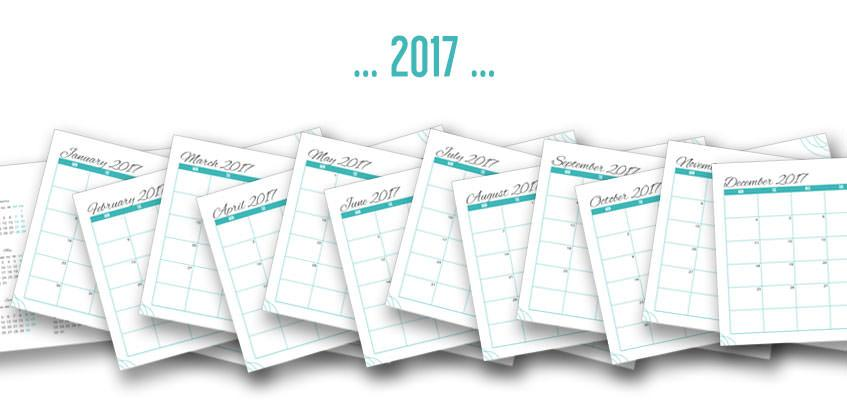 Freebie: Get this Free Printable 2017 Calendar