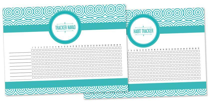 Printable habit tracker