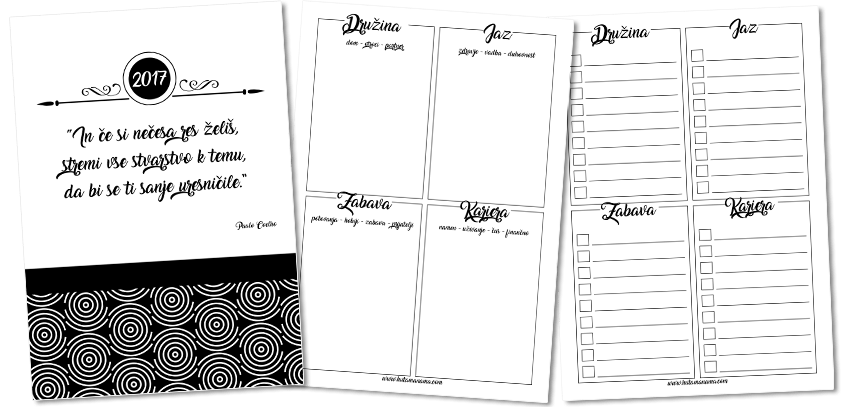 Freebie: New Years Goals Printable