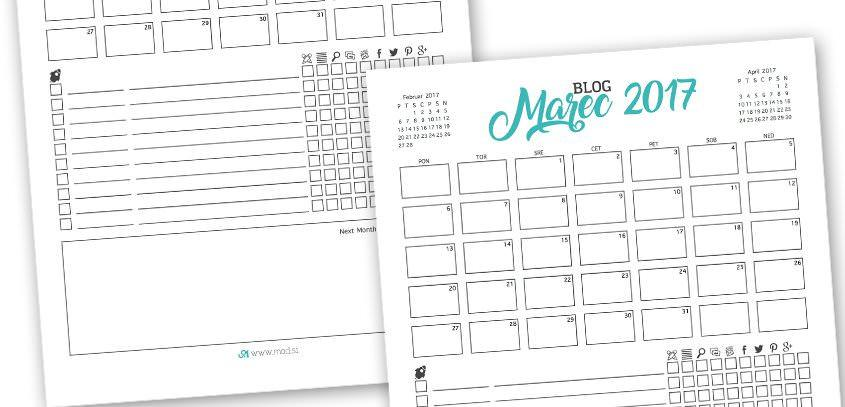 Freebie: Get Your Monthly Blogging Process Organised
