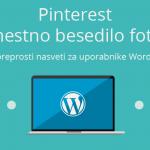 Pinterest - nadomestno besedilo fotografij