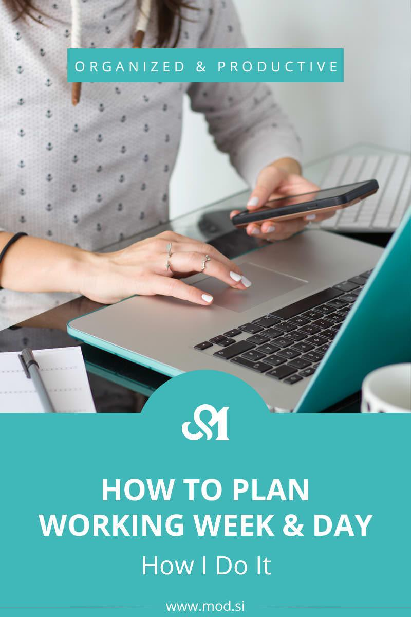 How To Plan Working Week & Day - How I Do It! By taking just 5-10 minutes each day (in the morning or night before) to plan out your day, you'll be able to get significantly more out of your day. In this post, I will show you how I plan my week and then my working day and what I use.