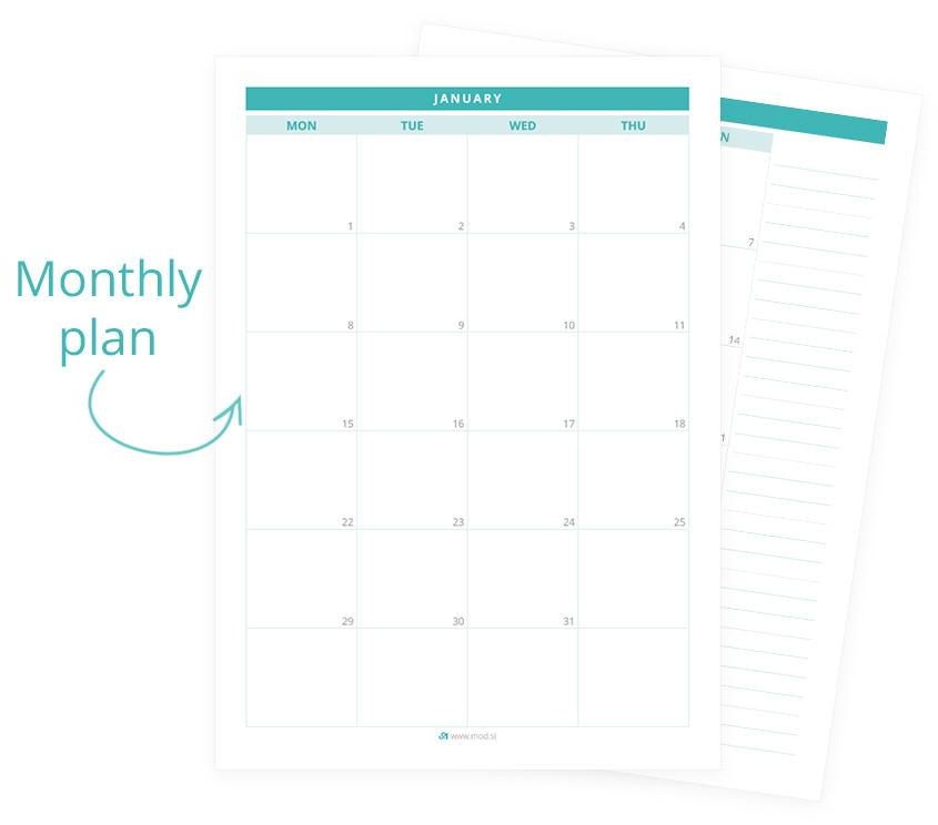 Today is the perfect day to start - Freebie for 2018