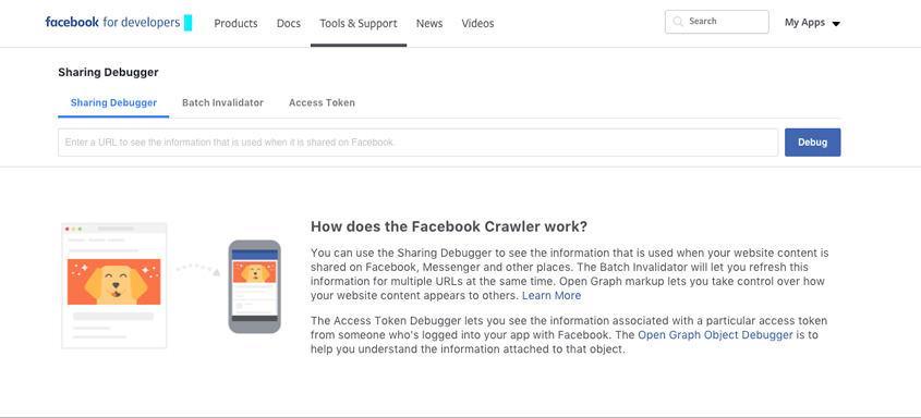 Sharing Debugger – WordPress tricks