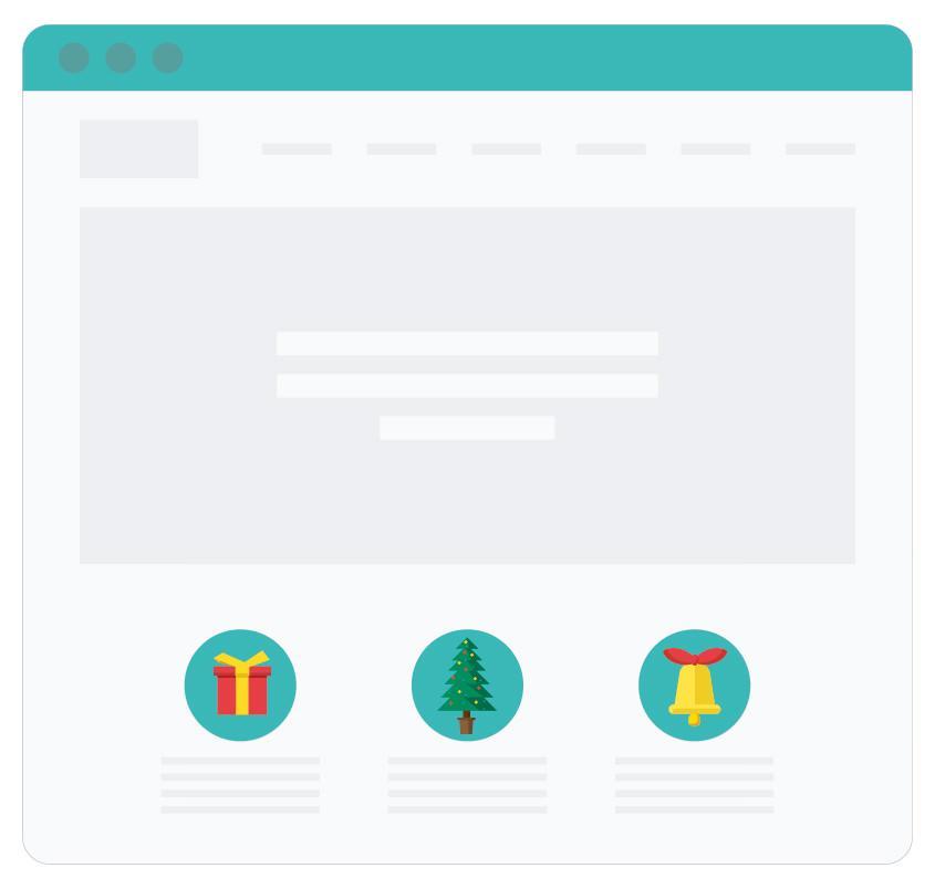 7 idej kako praznično obarvati spletno stran