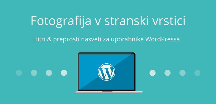 Kako dodati fotografijo v stransko vrstico – WordPress nasvet