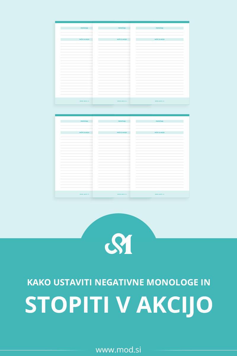 Kako ustaviti negativne monologe in stopiti v akcijo