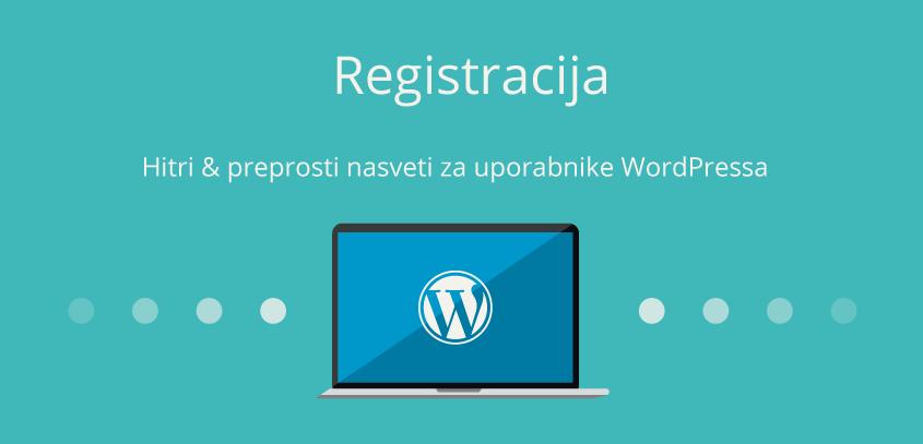 Omogoči registracijo – WordPress nasvet