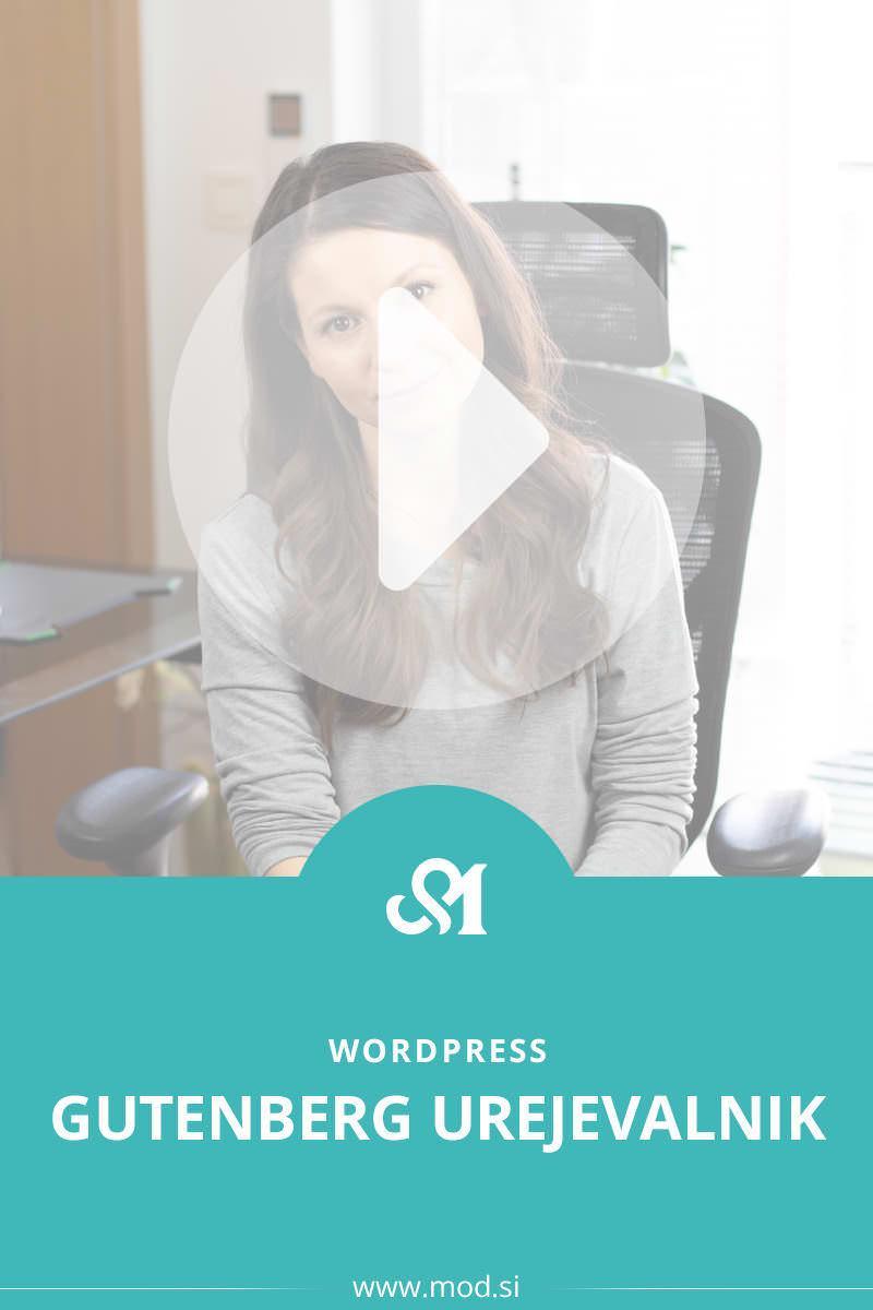 WordPress: Gutenberg urejevalnik