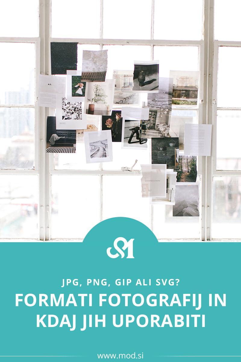 JPG, PNG, GIP ali SVG? Formati fotografij in kdaj jih uporabiti