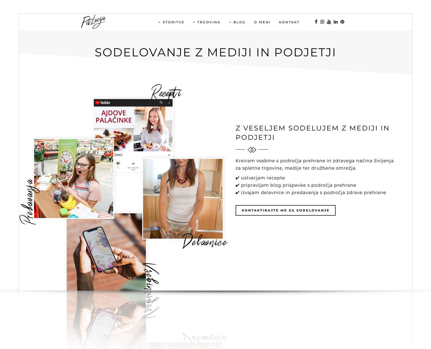 Nova spletna stran FitLucija