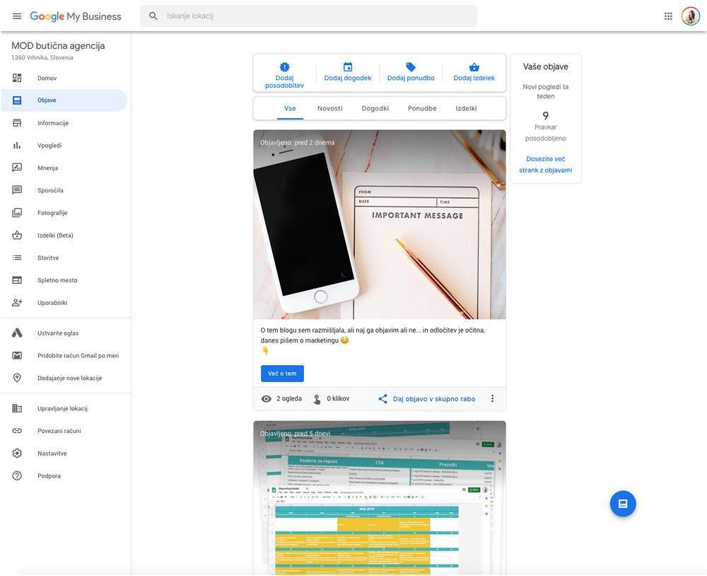 Kako do brezplačnega profila podjetja v Googlu