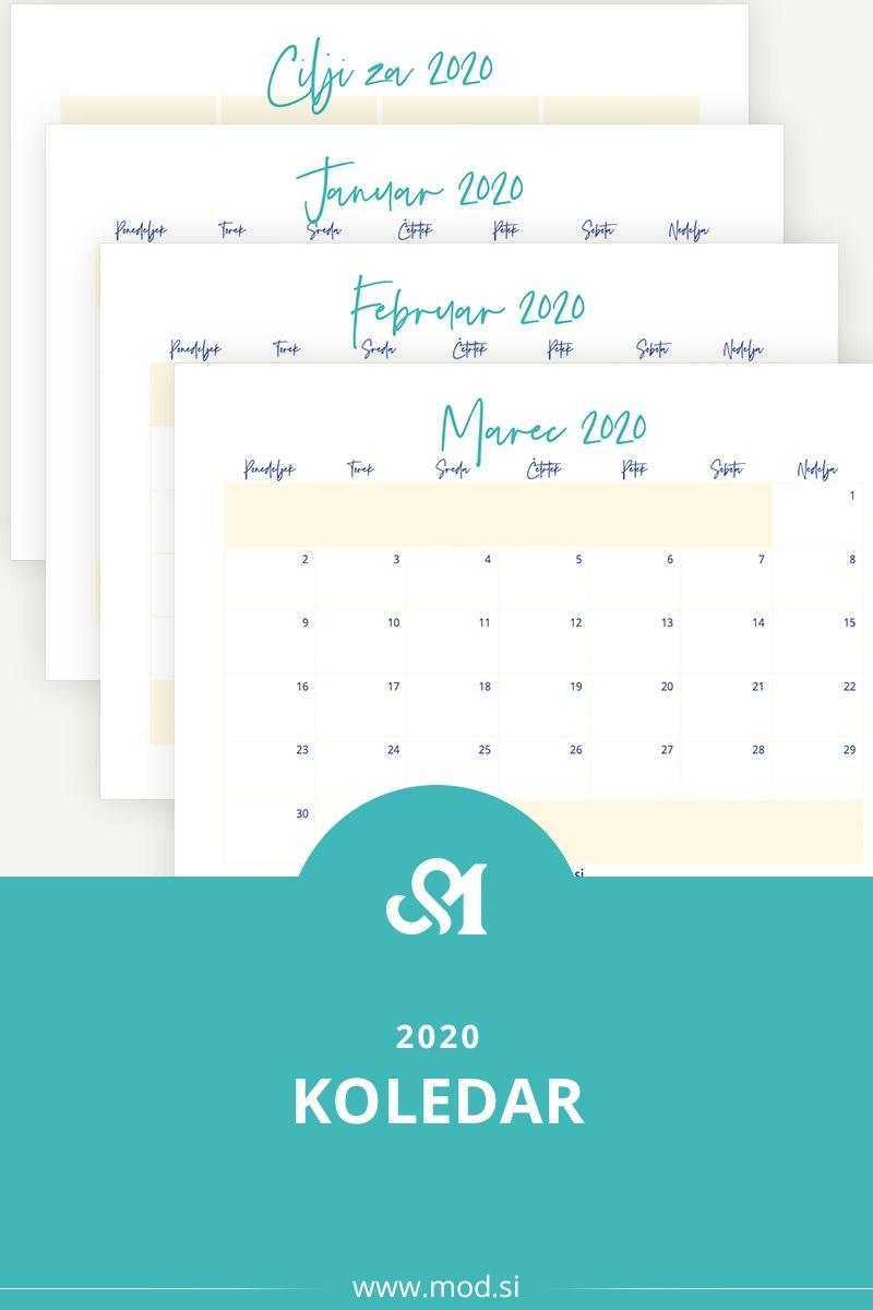 Brezplačen koledar za 2020