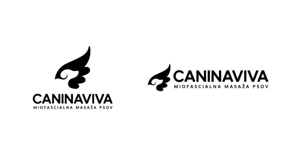 Oblikovanje logotipa in vizitke za Caninaviva - miofascialna masaža psov .