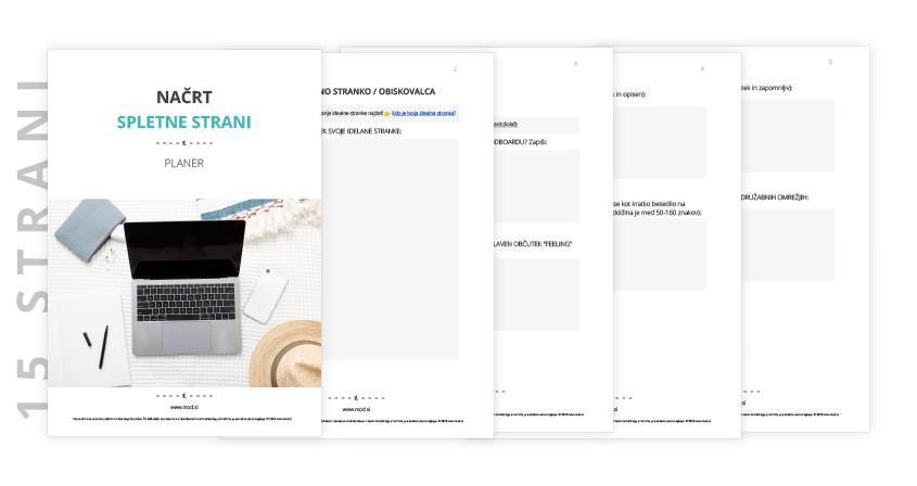 Kako pripraviti načrt za spletno stran + freebie