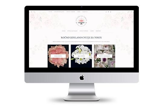 Spletno stran Cvetje za torte by Hera