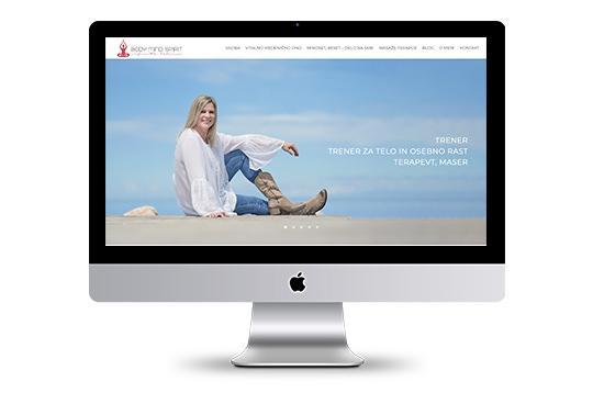 Spletna stran za Body Mind Spirit
