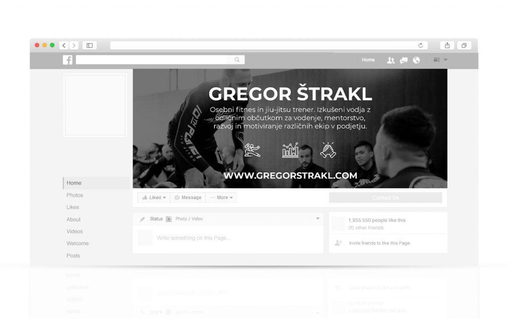 Spletna stran za Gregor Štrakl