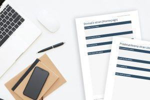 Iščeš pomoč pri pisanju vsebin za spletno stran? Tukaj je brezplačna predloga za pripravo vsebin za spletno stran