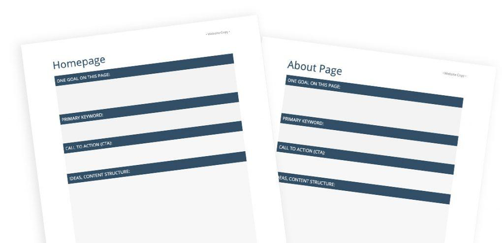 Writing content for a website can be soo hard. To make it easier for you, I prepared a free template to help you write standard website copy.